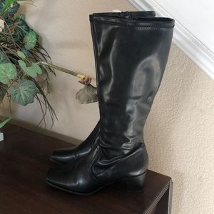 NWOT George faux leather Faye stretchy boots